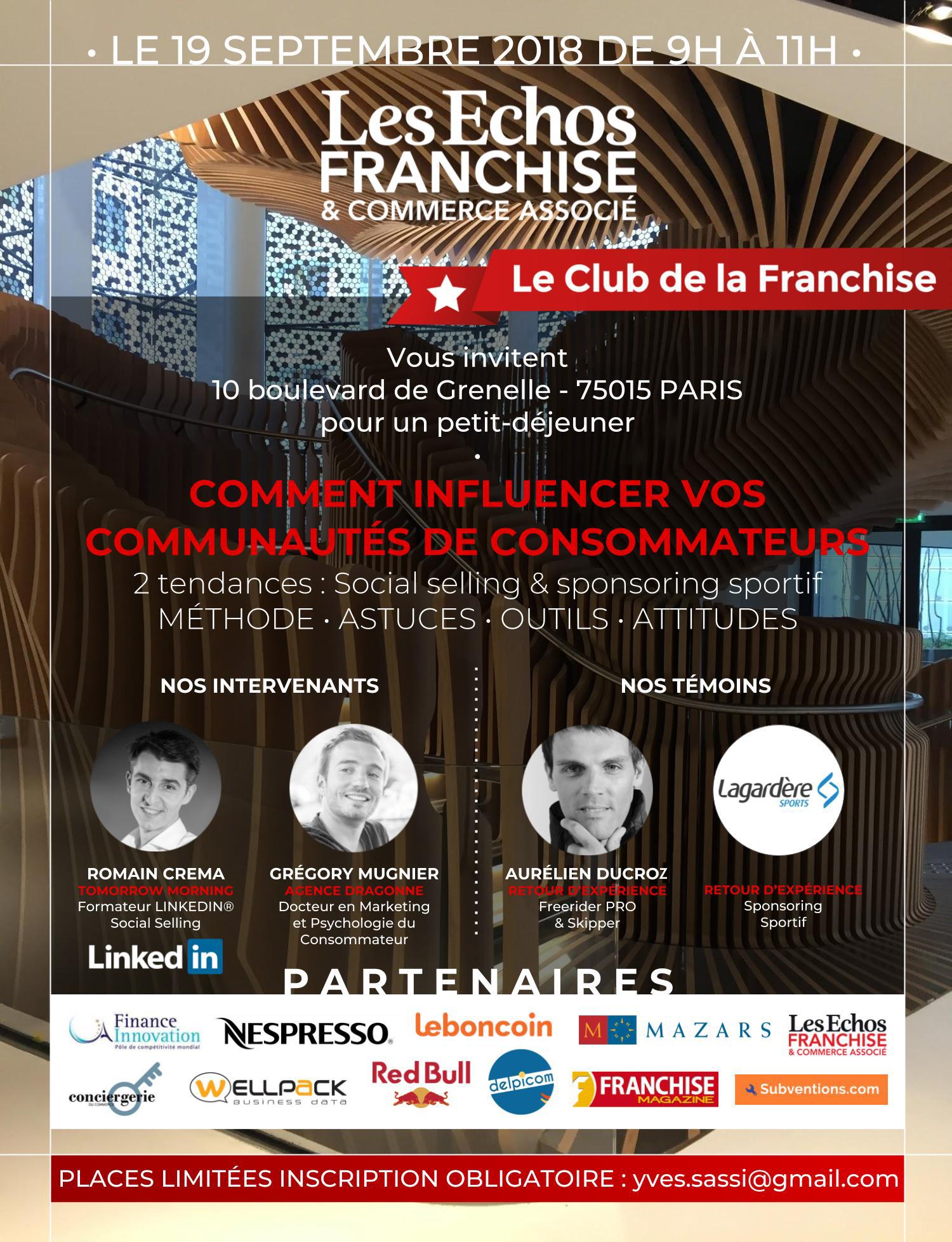 Club de la Franchise-invitation-19sept 2